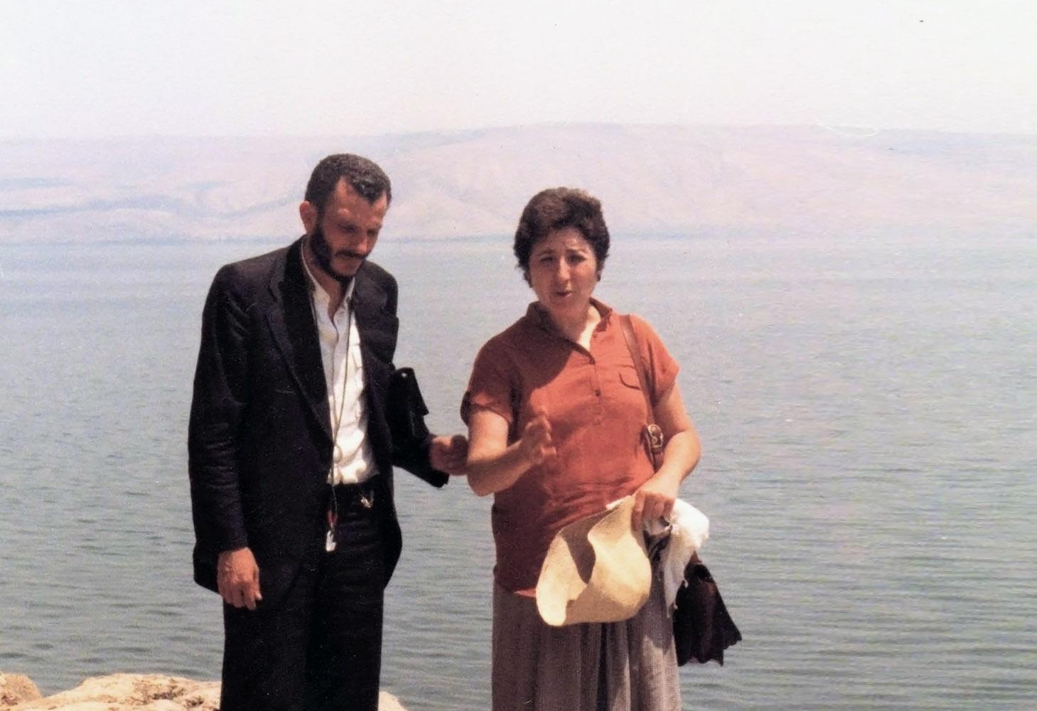 Carmen Hernández con Kiko Argüello 1984